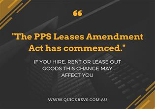 The PPS Leases Amendment Act Has Commenced
