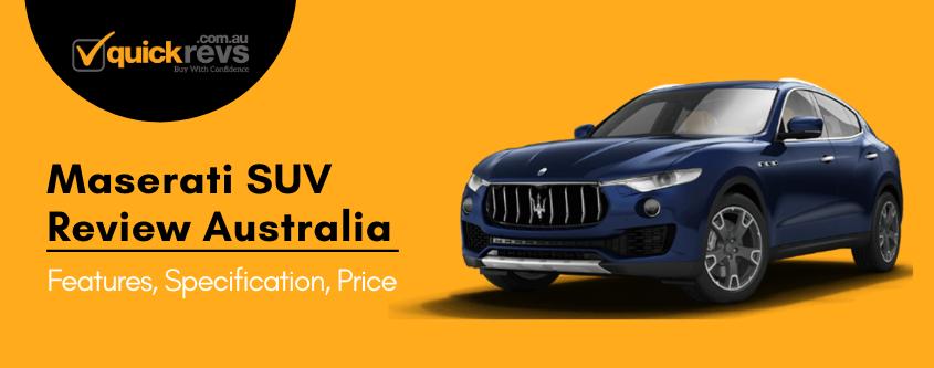 Maserati SUV Review Australia