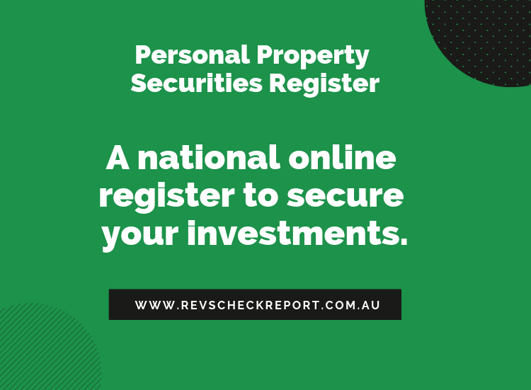 PPSR - personal property security register